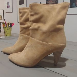 Ankle Booties with a Kitten Heel
